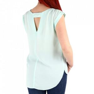 Bluză pentru dame cod 64650 Albastră - Bluză pentru damede vară Fără mâneci - Deppo.ro