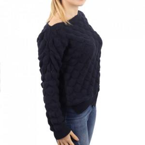 Bluză pentru dame cod F60 Navy - Bluzăpentru dame - Deppo.ro