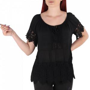 Bluză pentru dame tip cămășuță cod 91071 Black