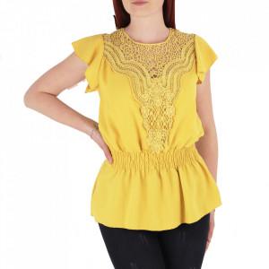 Bluză tip cămășuță pentru dame cod BP98 Yellow