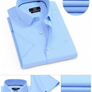 Cămaşă Classic Fit Albastră cu mânecă scurtă cod 9042-7