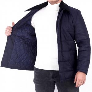 Geacă de iarnă Alberto - Geacă de iarnă elegantă pentru bărbați cu un fermoar de fixare și butoni cu căptușeală moale, jacheta vă va menține cald în zilele reci de iarnă. - Deppo.ro