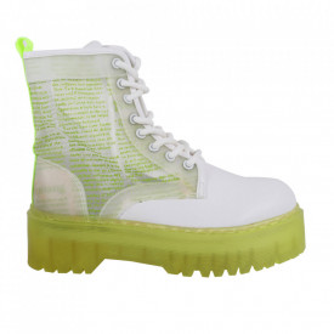 Ghete pentru dame cod BS-004 White/Neon