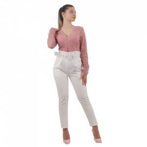 Pantaloni Elegance White
