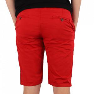 Pantaloni scurți pentru bărbați cod KS22-145 Red - Pantaloni  casual pentru bărbați din material ușor elastic, de culoare albastră - Deppo.ro
