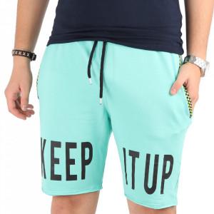 Pantaloni scurți pentru bărbați cod PP7 Turquoise