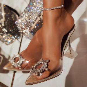 Pantofi Cinderella Gold