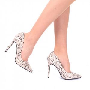 Pantofi Cu Toc Anahi - Pantofi din piele ecologică, cu vârf ascuţit şi toc subţire, foarte confortabili cu un calapod comod - Deppo.ro