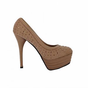 Pantofi cu toc cod 550610 Apricot - Pantofi cu toc și platformă foarte înalte pentru dame care vă pot completa o ținută fresh în acest sezon. Incalțî-te cu această pereche de pantofi la modă și asorteaz-o cu pantalonii sau fusta preferată pentru a creea o ținută deosebită. - Deppo.ro