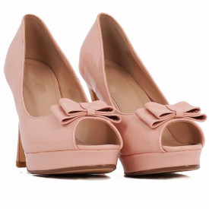 Pantofi cu toc cod BJ16601B Nude