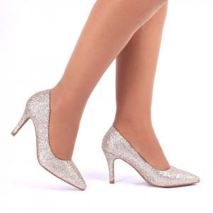 Pantofi cu toc cod C57 Auri