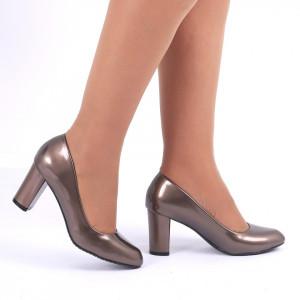 Pantofi cu toc cod CA83 Auri
