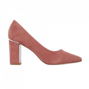 Pantofi cu toc cod EK0500 Pink