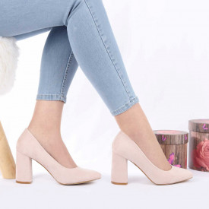 Pantofi cu toc cod OD0073 Bej