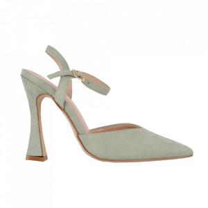 Pantofi cu toc cod OD0335 Green