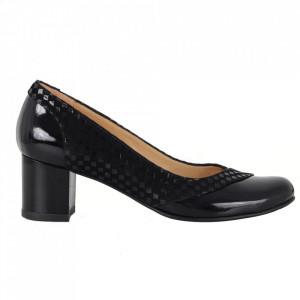 Pantofi cu toc din piele naturală cod 1058 LN+IMP