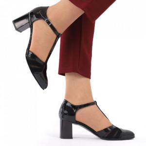 Pantofi cu toc din piele naturală cod 1211 LN - Pantofi cu toc din piele naturală moale  Acești pantofi vă conferă lejeritate și elegantă  Închidere prin baretă - Deppo.ro