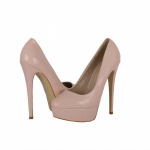Pantofi Cu Toc Elin Bej