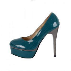 Pantofi Cu Toc Jasmin Verzi - Pantofi cu toc și platformă foarte înalte pentru dame care vă pot completa o ținută fresh în acest sezon. Incalțî-te cu această pereche de pantofi la modă și asorteaz-o cu pantalonii sau fusta preferată pentru a creea o ținută deosebită. - Deppo.ro