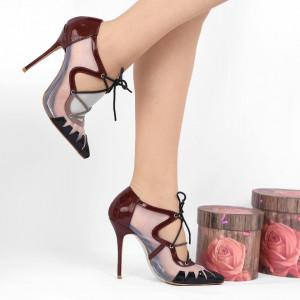 Pantofi Cu Toc Valery Bordo