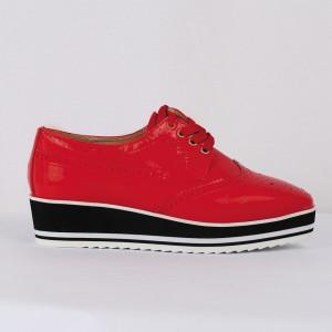 Pantofi din piele ecologică Cod 0-167 Rosi