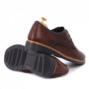 Pantofi din piele naturală Alex Maro - Pantofi din piele naturală pentru bărbați, model simplu, finisaje îngrijite cu undesign deosebit - Deppo.ro