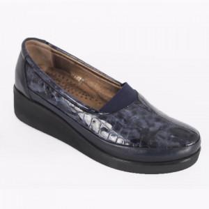 Pantofi din piele naturală cod 005 Blue