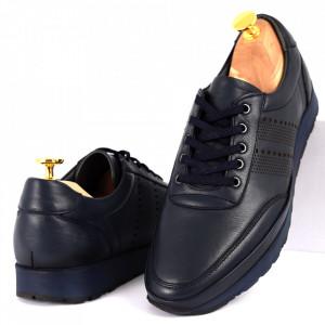 Pantofi din piele naturală Cod 1040 Navy