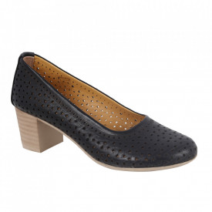 Pantofi din piele naturală cod 1067 Black