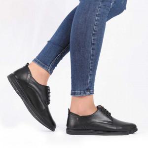 Pantofi din piele naturală cod 119422 Black