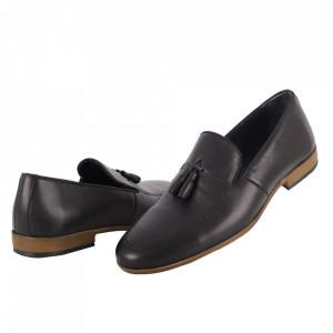 Pantofi din piele naturală cod 1305 Siyah