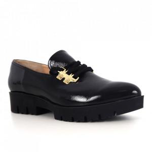 Pantofi din piele naturală cod 13319 Black