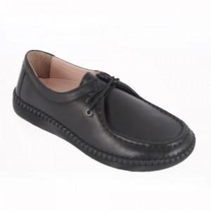 Pantofi din piele naturală cod 20121 Black