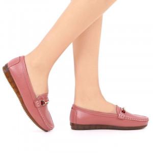 Pantofi din piele naturală cod 301 Roz