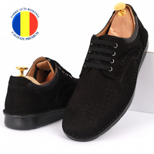 Pantofi din piele naturală Cod 601 Negru