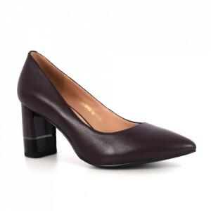 Pantofi din piele naturală cod 6N Bordo