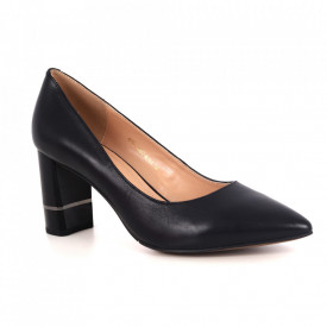 Pantofi din piele naturală cod 6N Negru