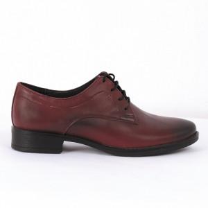 Pantofi din piele naturală Cod ANL Bordo