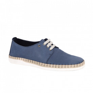 Pantofi din piele naturală cod Avio Blue