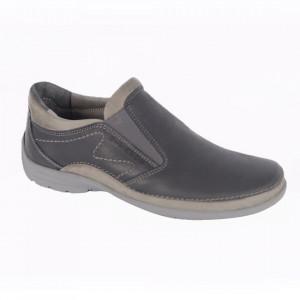 Pantofi din piele naturală pentru bărbați cod 102 Blu
