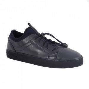 Pantofi din piele naturală pentru bărbați cod 321 Bleu