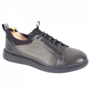 Pantofi din piele naturală pentru bărbați cod 325-1 Verde