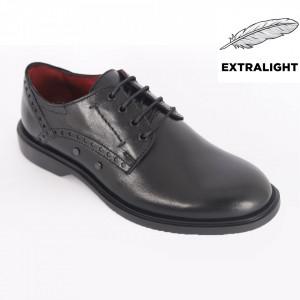 Pantofi din piele naturală pentru bărbați cod 3505 Negru
