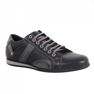 Pantofi din piele naturală pentru bărbați cod 599 Grey