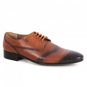Pantofi din piele naturală pentru bărbați cod 7-30 Maro