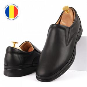 Pantofi din piele naturală pentru bărbați cod 8264 Black