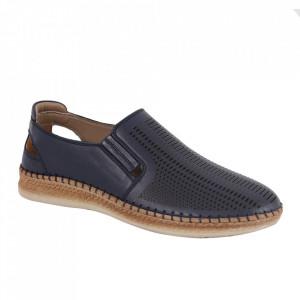 Pantofi din piele naturală pentru bărbați cod 85028 Lacivert