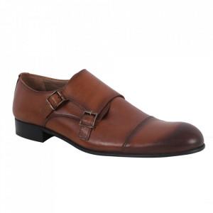 Pantofi din piele naturală pentru bărbați cod 857 Maro