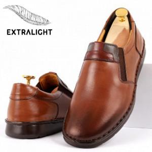 Pantofi din piele naturală pentru bărbați cod 910 Maro