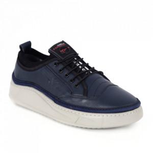 Pantofi din piele naturală pentru bărbați cod 9202 Lacivert